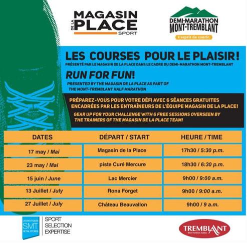 Promotions and marketing - Mont-Tremblant Half-Marathon